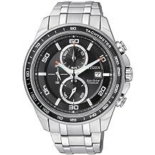Citizen CA0340-55E - Reloj cronógrafo de cuarzo para hombre, correa de titanio multicolor