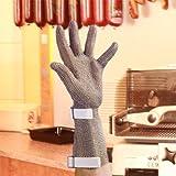 Franz Mensch Stechschutz Kettenhandschuh mit Stulpe 8 cm (Größe: L)
