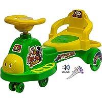 Goyal's Tuk Tuk Senior Free Wheel Musical Magic Car with Back Rest - (Green)