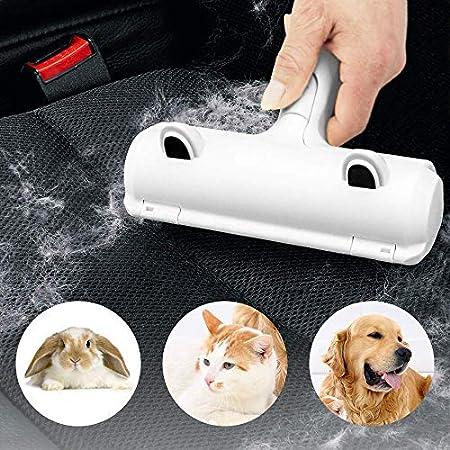 Kleiderbürste, wiederverwendbar, Tierhaarentferner, Bürste für Hunde und Katzen, Fellentferner, selbstreinigende Basis – Werkzeug zur Entfernung von Tierhaaren von Teppichen, Möbeln und Kleidung