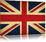 Great Britain Flag Großbritannien Flagge Format: 120x80 cm auf Leinwand, XXL riesige Bilder fertig gerahmt mit Keilrahmen, Kunstdruck auf Wandbild mit Rahmen, günstiger als Gemälde oder Ölbild, kein Poster oder Plakat