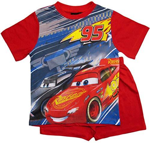 Cars Disney 3 Schlafanzug Jungen Shorty Lightning McQueen (Rot, 128)