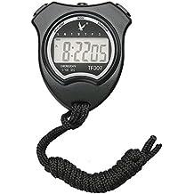 Hikeren, digitale sport cronometro timer cronografo atletico orologio con sveglia, calendario e display LCD, nero