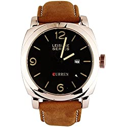 Wishar CURREN Matte leather waterproof PC single calendar quartz Sports trend, men's watches
