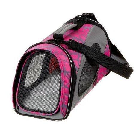Hunde Flugtasche Transporttasche Hundetasche Flugkabine Flugtauglich / Pink Rosa - Größe:39 x 21 x 23 cm