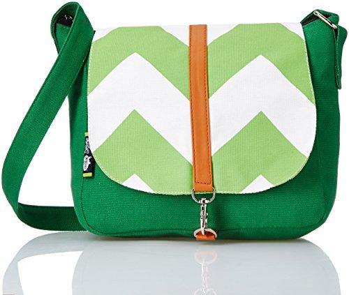 Kanvas Katha Women's Sling Bag (Green) (KKCVT005)