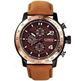 Curren Super Hot Analog Rose Gold Dial M...