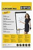 Bi-Office Blocco Per Lavagna di Carta Euro, A Quadretti, 20 Fogli per Blocco, Lato Superiore Perforato, 60 g/mq