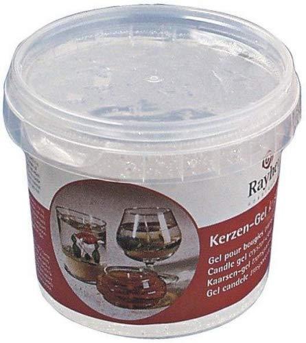 Rayher Hobby 3130000 Kerzen-Gel, Dose 300 g/ ca.365 ml, transparent, kristallklares Kerzenwachs zum schmelzen, kann gefärbt werden, Kerzen gießen, farblos