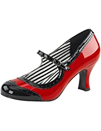 Mary Jane Pump, Damen, Rot (rot)