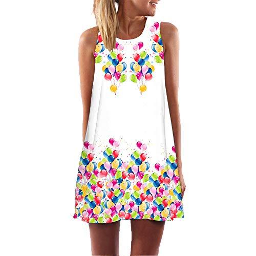 XuxMim Damen Kleid Business Kleid Knielang Wickelkleid, 3/4 Arm mit V-Ausschnitt und Gürtel(Weiß-1,Small)