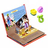 #3: COI COMBO POP UP ALADDIN FAIRY TALES STORY BOOK AND HEART , RING , FLOWER 3D ERASERS FOR KIDS