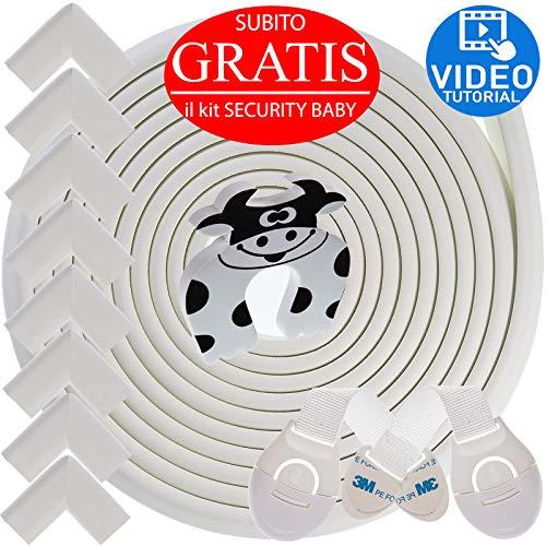 Kit Protector para Esquinas y Bordes | Juego de 8 Cantos Protectores y 1 Rollo, cobertura total de...