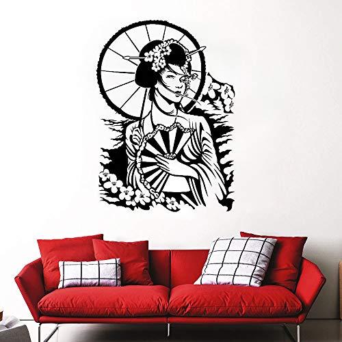 Kostüm Schönheit Regenschirm kann Wandaufkleber Wohnzimmer Schlafzimmer Sofa Hintergrund Wand 58x42cm - Arabische Schönheit Kostüm