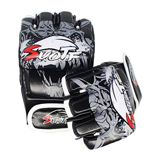 QJSTDM MMA Demi Doigt Gants De Boxe Adultes Combat Libre Arts Martiaux Mouvements Frappés Sacs De Sable Formation Lutte Luva Boxe Gants