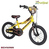 """Schwinn Boys Scorch Kids Bike, Yellow/Black, 16"""" (Age 4+)"""
