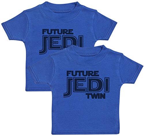 Future Jedi T-Shirts Bébé Jumeaux, Bébé Haut Jumeaux, Bébé garçon T-Shirts Jumeaux, Bébé Fille T-Shirts Jumeaux - 3-6 Mois Bleu