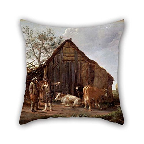 Ölgemälde camphuysen, Govaert–Zwei Bauern mit Kühe Kissen 50,8x 50,8cm/50von 50cm Best Wahl für Jugendliche Lounge...