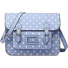 Miss Lulu marca Vintage funda lunares piel sintética bolsa de trabajo maletín Satchel Mochila Escolar
