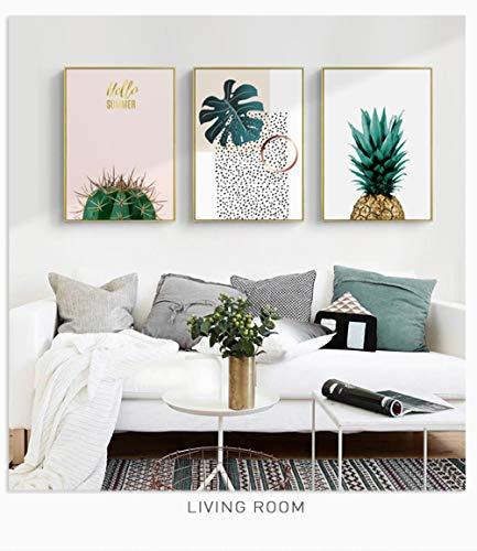 AKLIGSD Cuadros Lienzo Pintura Cactus piña Pintura