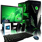 "VIBOX Spark 10 Gaming PC Computer with War Thunder Game Voucher, Windows 10 OS, 22"" HD Monitor (4.2GHz AMD FX 8-Core Processor, Nvidia GeForce GTX 1060 Graphics Card, 32GB DDR3 1600MHz RAM, 2TB HDD)"