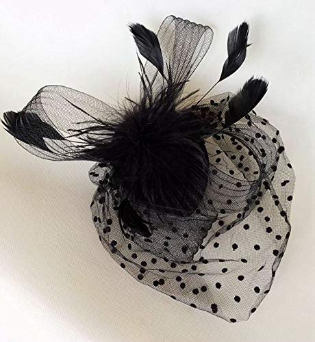 Brautschleier Kopfschmuck retro Gitterabdeckung Gesicht Hut sexy cheongsam Kleid Haar - Accessoires schwarz und weiß rot schwarz - Schwarze Krepp-kleid
