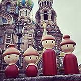 4Pc Di Legno Fatto A Mano Burattino, Grande Famiglia PEG Bambole Di Legno Famiglia Bricolage Artigianato Giocattoli Per Bambini