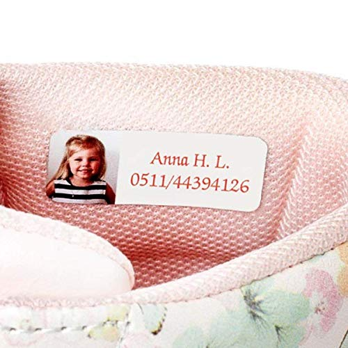 Ikast Etikett selbstklebende Namensetiketten für Kinder   Individuell bedruckte Etiketten für Kleidung Und Textilien   Waschbar bis 40°C   30 Stück