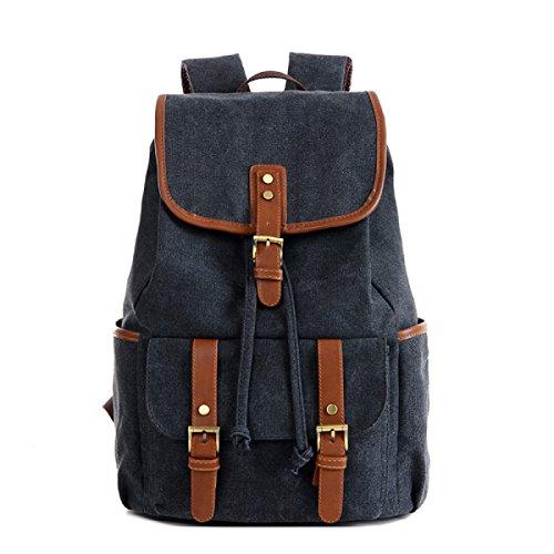 BUKUANG Retro-Mode-Leinwand Umhängetasche Mann Sport Und Freizeit Große Kapazität Taschen Rucksack Computer Handtaschen,B D