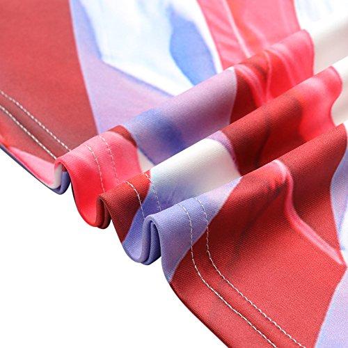 Bfustyle Unisex 3D Gedruckt Sommer Casual Kurzarm Ansatz Top T-Shirts T-Stücke Fireworks Eagle