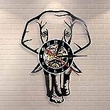 N / A 3D-7 Colori Light-USB-Safari Orologio da Parete con Elefante Animale Elefante Selvatico Africano Decorazione da Parete per Bambini Nursery Orologio da Parete Vintage in Vinile