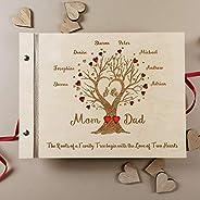 Guestbook matrimonio, libro delle dediche, in legno, personalizzato, album famiglia per foto, idea regalo per