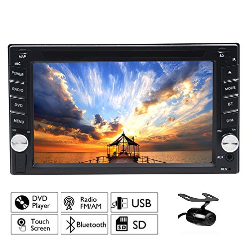 Frei Backup Kamera. Windows 6 Double DIN 15,7 cm HD GPS Navigation 2 DIN Auto Stereo DVD-Player in Dash Auto Radio Bluetooth USB SD AUX Video Haupteinheit Kapazitive Touchscreen MP3 PC Head Unit + 8 GB GPS SD Karte