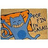 koko doormats felpudos Entrada casa Originales, Fibra de Coco y PVC, Felpudo Exterior Gato - por Fin EN CASA!!, 40x60x1.5 cm