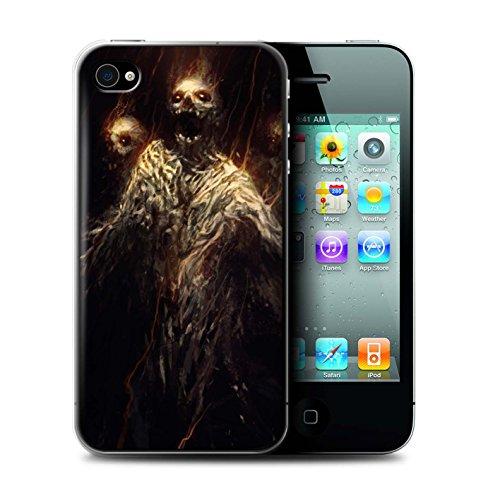 Offiziell Chris Cold Hülle / Case für Apple iPhone 4/4S / Ghouls der Furcht Muster / Dämonisches Tier Kollektion Ghouls der Furcht