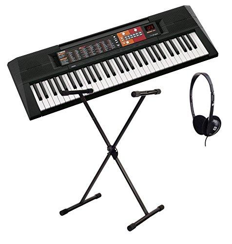 Yamaha PSR-F51 Home Keyboard, ideal für Kinder und Eibsteiger, mit Begleitautomatik + Ständer + Kopfhörer (Yamaha Piano Keyboard-ständer)