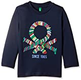 United Colors of Benetton Boys' Long Sleeve Top (17A3I1XCZ389G13CXL_Black Melange)