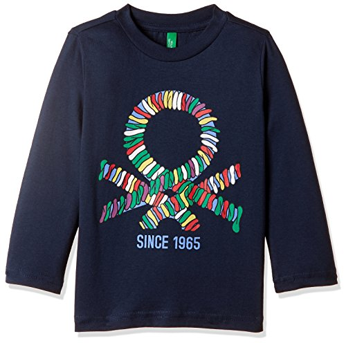 United Colors of Benetton Baby Boys' T-Shirt (17A3I1XCZ389G13C1Y_Black Melange)
