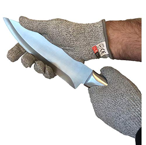 Palema® schnittfeste Handschuhe - Größe M, VE 1 Paar - Schnittschutz in der Küche, im Garten oder im Beruf - leistungsstark durch Level 5 Schutz, lebensmittelecht in 4 Größen