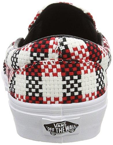 Vans  Classic, Chaussures mixte adulte Blanc / Rouge / Noir