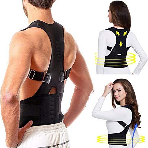 HIXGB Adjustable Back Posture Corrector Magnetic Therapy Posture Corrector  Brace Shoulder Back Brace Support Belt For 649c397c110