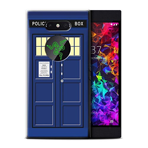 eSwish Gel TPU Hülle/Case für Razer Phone 2 / Blau Muster/Tardis Telefonzelle Kunst Kollektion
