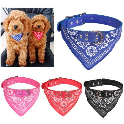 Bandana ajustable para mascota, perro, cachorro, gato, cuello con cuello y pañuelo por Aquiver color al azar
