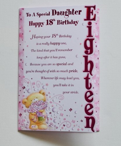 Daughter Birthday Card To A Special Daughter Happy 18th Birthday