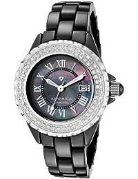 Swiss Legend–sl-10051-bkbsr Damen-Armbanduhr–Quarz Analog–Armband Keramik Schwarz
