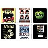 The Beatles Set di sottobicchieri 1962 Anniversary 4 pezzi 10 x 10 cm