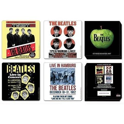 The Beatles 1962 Anniversary 4 Piece Coaster Set I