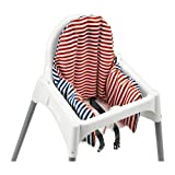 Ikea Antilop Highchair with Tray,safety Belt, White, Silver Colour and Antilop Highchair White complete with cushion by IKEA by Antiolp