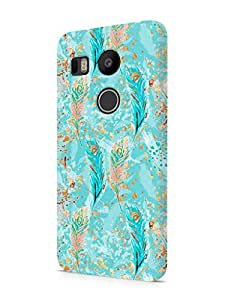 Cover Affair Feathers Printed Designer Slim Light Weight Back Cover Case for LG Nexus 5X / LG Google Nexus 5X (Blue)