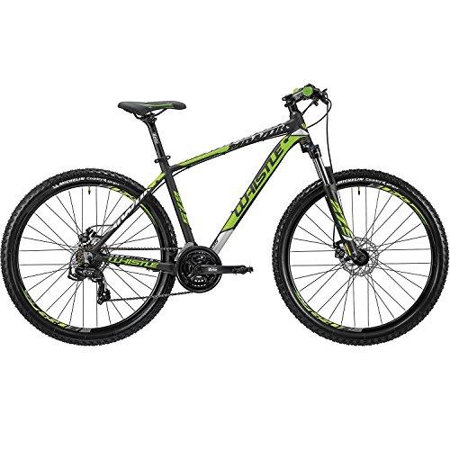 Whistle Bici Miwok 1835 27.5' 7-Velocità taglia 41 nero/verde 2018 (MTB Ammortizzate) / Bike Miwok 1835 27.5' 7-Speed size 41 black/green 2018 (MTB Front suspension)